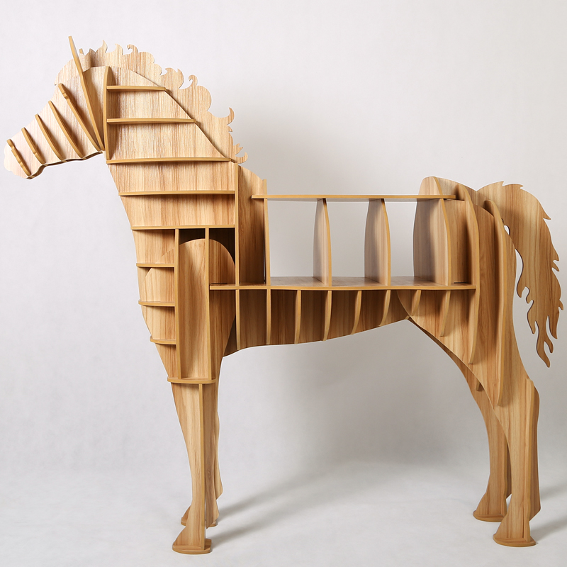 Aliexpress Com Buy 1 Set 62 69 Inch Home Decor Wooden Horse Art Desk Creative Horse Statue Wood Crafts For Living Room Decorative Art Furniture From