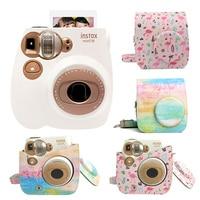 New Fujifilm Instax Mini 7C Camera Instant Photo Printing Film Snapshot Shooting Camera with Shoulder Strap Bag Protective Case