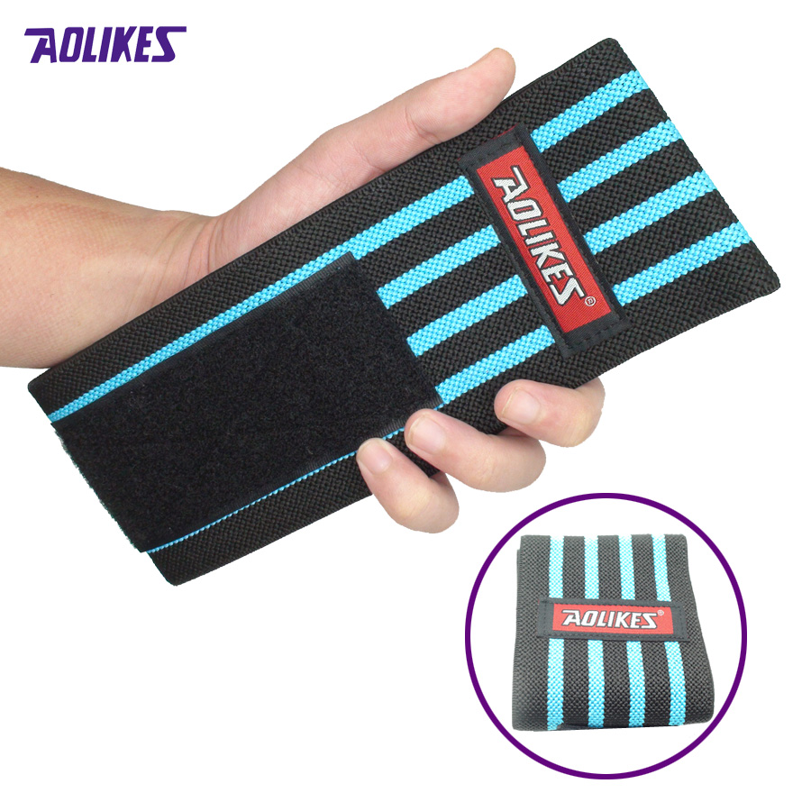 2Pcs Fitness Sprained Wrist Band Booster Motion Exercise Pressure Bandage Wrist Strap Strength Training Weightlifting Z11901