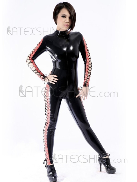 Glitter Multi Color Unisex Shaping Sexy Women s Latex Catsuits-in ... 87496d54f