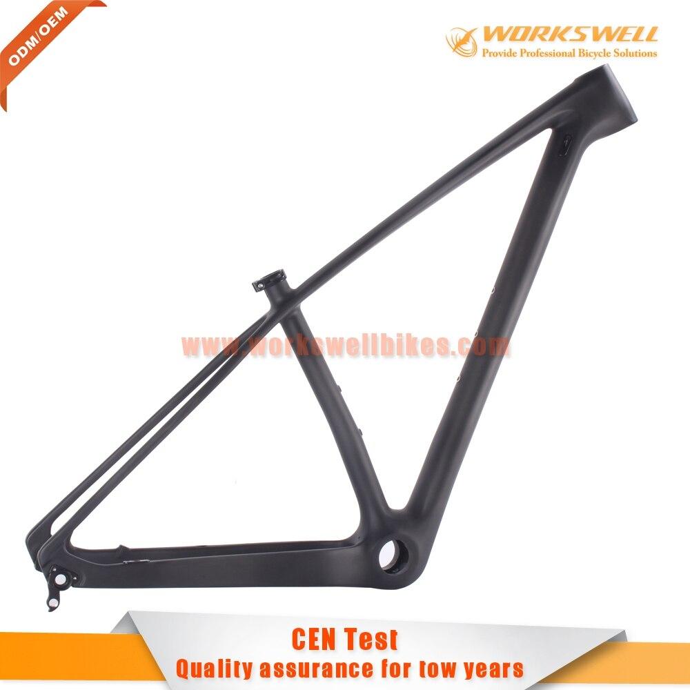 Only 980g 29er Hardtail Mountain Bicycle Frame super light full ...