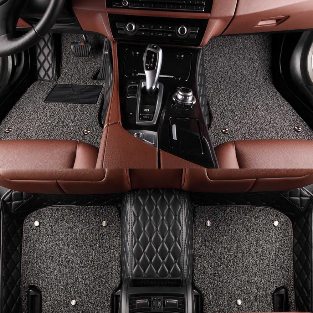 サニーキツネ床ライナーアウディ A3 A4 A5 A6 オールロード A7 A8 A8L Q3 Q5 Q7 5D 防水すべて天気カーペット 5D 車のフロアマット