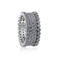 New Collection Hot Sale Top Quality CZ Paving Luxurious Shinning Big 925 Sterling Silver Ring