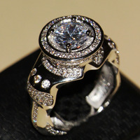 2016 New Men Fashion Jewelry 8 5mm Main White Sapphire Pave 925 Sterling Silver Simulated Diamond