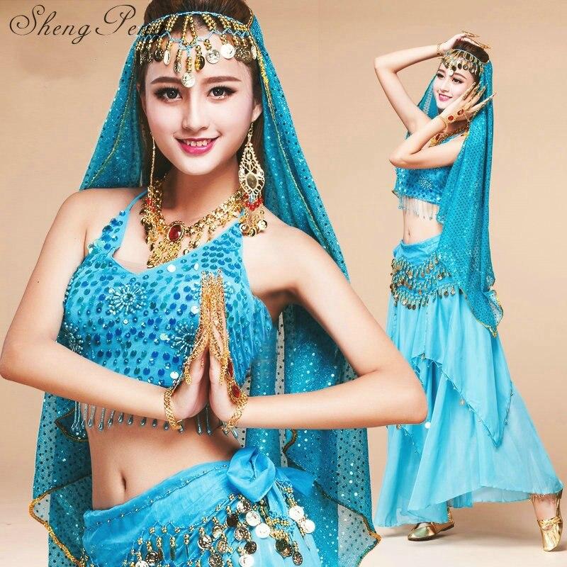 Costumes de danse du ventre 2018 nouvelles femmes vêtements de danse du ventre oriental pas cher vêtements de danse du ventre costumes de danse indienne CC198