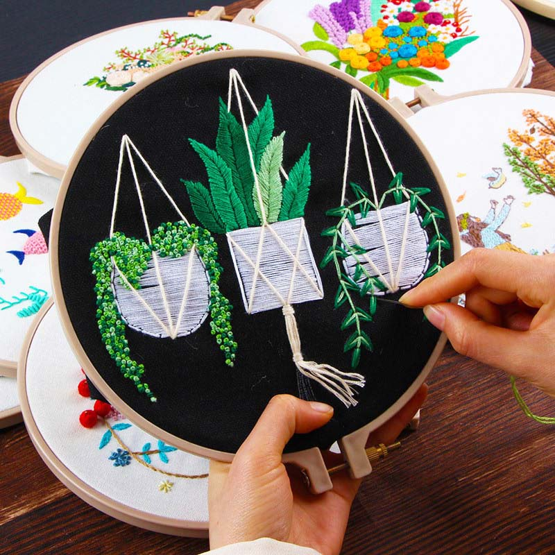 Circle Embroidery Kits ,Embroidery Set,Needlework