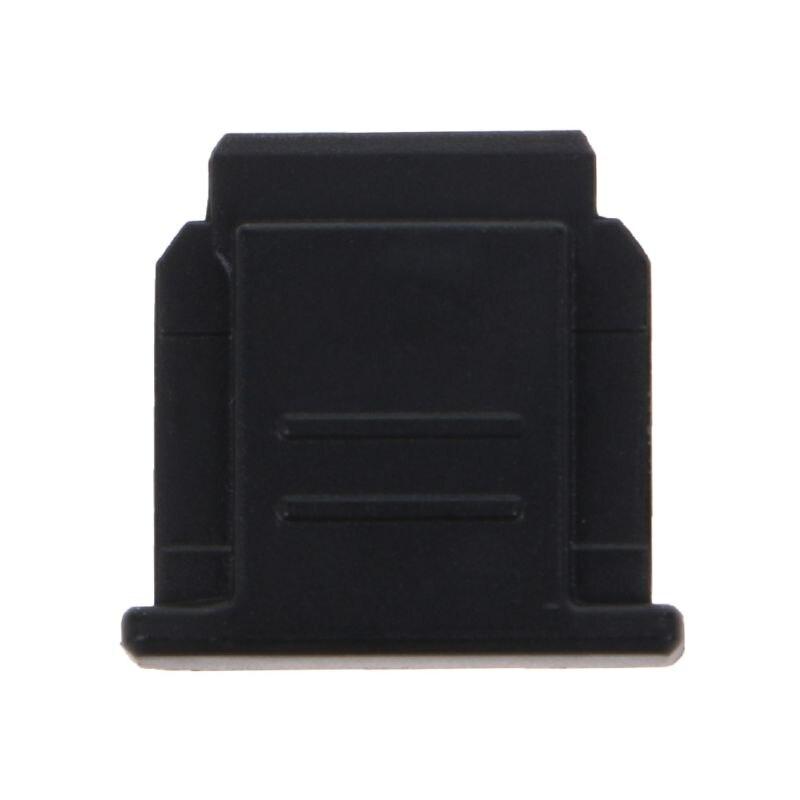 Горячий башмак Крышка Анти-пыль анти-удар Cam комплект для sony FA-SHC1M A6000 A7 A9 RX100 DSLR камеры#328 - Цвет: BK