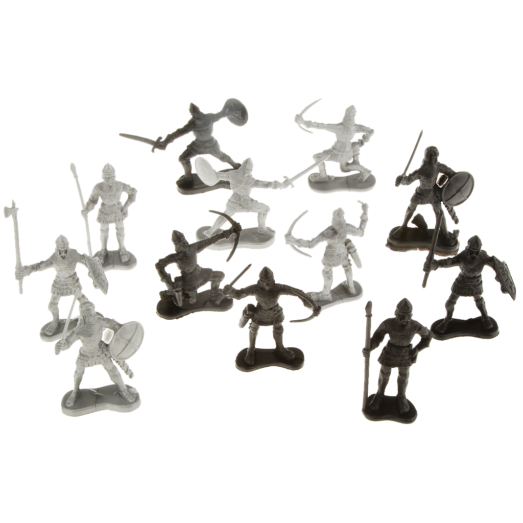 New Ancient Military Simulation Warriors Soldiers Toy with Siege Crossbow Stone Thrower Christmas Birthday Gift for Kid Children