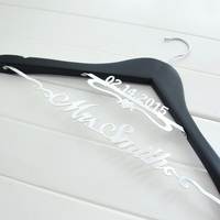 Bride Hanger Personalized Hanger For Wedding Dress Or Wedding Party Gift Bride Gift Bridesmaids Gift Double