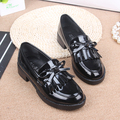 British style tassel single shoes flat round toe women loafer shoes