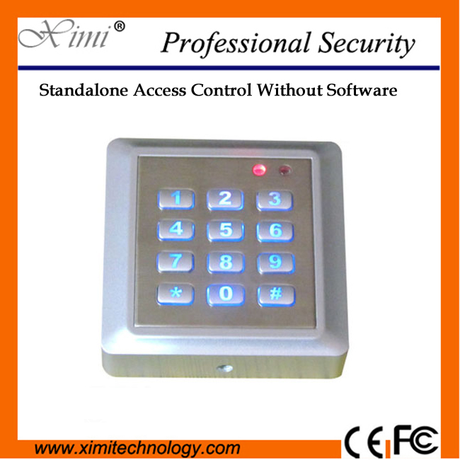 2000 User Password Good Looking Waterproof Metal Keyboard Mf Card Reader F010K Single Access Controller single access control 1000 user without software smart switch to open with keyboard 13 56mhz card reader f007b access controller