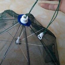 K8356 Strengthened 4-16 Holes Automatic Fishing Net Shrimp Cage Nylon Foldable Crab Fish Trap Cast Net Cast Folding Fishing Nets