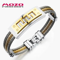 2015 Sale New Fashion Men S Jewelry Bracelet Popular Stainless Steel Classic Gold Silver Great Wall