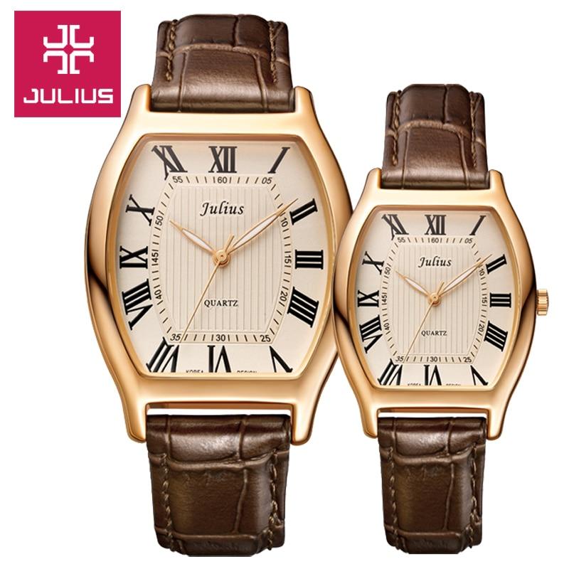 Julius Watch Kids Watch Women Watch Men Watch Couple Casual Fashion Simple Water resistant Leather