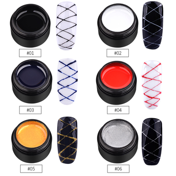 6 Colors Nail Art 5ml Elasticity Pulling Silk Spider Gel Polish DIY Creative Nail Gel Point To Line Painting Lacquer Varnish 1