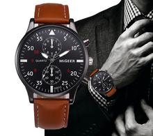 Relogio Masculino 2018 Mens Leather Band Men #8217 s Watch Clock Quartz Wrist Watches Fashion Sport Watch Men Top Brand Clock relogio cheap Quartz Wristwatches 20mm 22cm ROUND Glass 3Bar SOXY Buckle 35 5mm None No package waknoer Stainless Steel Men s Watches Clock relojes para hombre relogio masculino