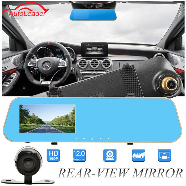 Brand New 4.3 Inch Vehicle Traveling Data HD Recorder Rear View Mirror Camera Dual Lens 1080P