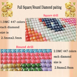 Image 4 - Cuentas cuadradas completas 5D, bordado de diamantes, herramienta para tazas de café, punto de cruz, mosaico de diamantes de imitación, regalo de Decoración de cocina