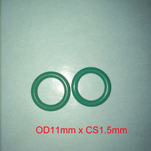 OD11mm*CS1.5mm green viton rubber o ring gasket seal free freight