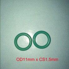 OD11mm*CS1.5mm green viton rubber o ring gasket seal free freight цена