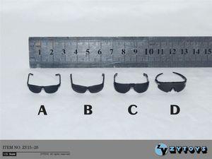 "Image 1 - 4 개/대 1/6 scale ZY15 20 블랙 안경 선글라스 12 ""액션 피겨 완구 액세서리"