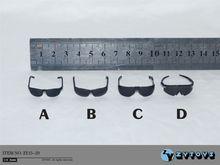 """4 stks/set 1/6 Schaal ZY15 20 Zwarte Bril Zonnebril Voor 12 """"Action Figure Speelgoed Accessoire"""