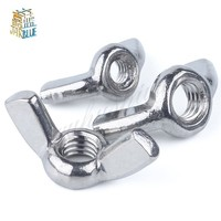 2/5/10Pcs M3 M4 M5 M6 M8 M10 M12 DIN315 304 Stainless Steel Hand Tighten Nut Butterfly Nut Ingot Wing Nuts