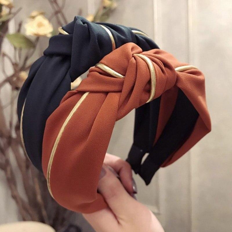 Hot Women Girls Hairband Turban Hair Accessories Wide Side Vintage Headband Headwear Jewelry Gifts