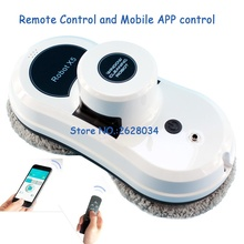 Auto clean anti-falling smart window glass cleaner smart phone control remote control robot vacuum cleaner Free Shipping