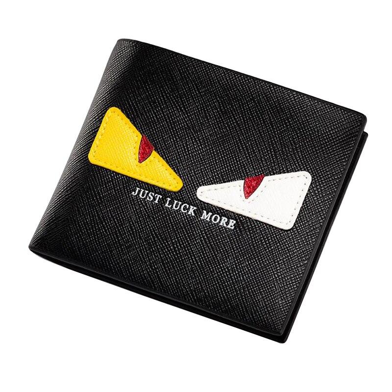 portefeuille homme Little Monster Eyes Wallet 2016 New Designer Ultra Slim Wallets For Women Men Short Leather Purse billeteras