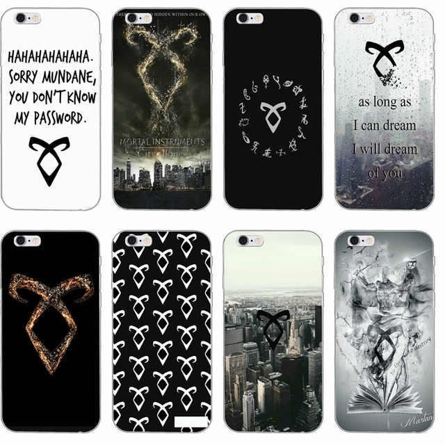 Shadowhunters Runes Silicone TPU Soft Phone Case For Apple IPhone 4 4s 5 5s 5c SE 6 6s Plus 7