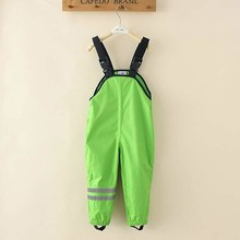 Girls Boys Waterproof Overalls Padded Outdoor Pants High Quality Kid Windproof Rain Pants Children's Winter Necessary Trousers
