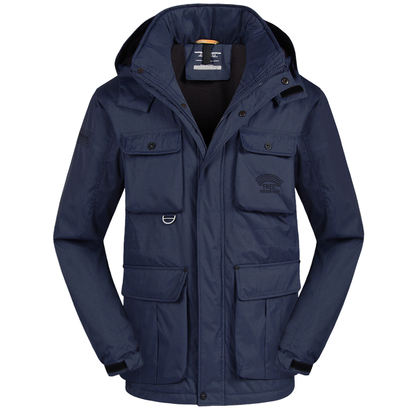 ФОТО Brand Casual Parka Winter Jacket Men Coat Warm 2017 New Arrival Multi Pocket Plus size 4XL 5XL 6XL MA806