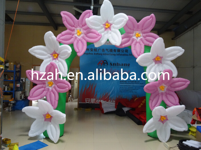 3*3m Inflatable Flower Arch Pink and White Inflatable Flower 420d oxford inflatable arch inflatable archway 6 3 m with your logo