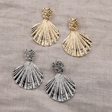Gold Silver Earrings for Women Summer Shell Earring Korean Statement Beach Jewelry Gouden zilveren Oorbellen