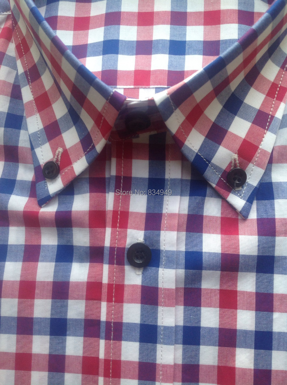 Mens Red Gingham Shirt