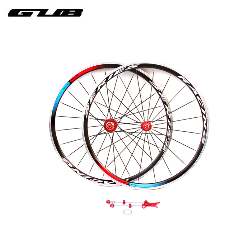 2pcs/lot GUB R730 Bicycle Wheel Group 20-24H Super Light Aluminum Alloy Ring Knives Road Bike Parts Stainless Steel Flat Spokes 1set front and rear 700c road bike wheel bicycle magnesium alloy three spokes parts integrated wheel fixed gear single speed