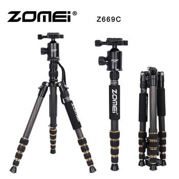 ZOMEI Z669C Carbon Fiber Professional Tripod Lightweight Travel Monopod Ball Head For DSLR Photographic Dedicate Camera Stand