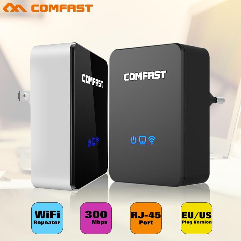 Amplificador Wi-Fi Repetidor Wi-fi sem fio Extensor Wi-fi 300Mbps 802.11b/g/n Impulsionador Repetidor Wi fi Reapeter Acesso ponto AP router