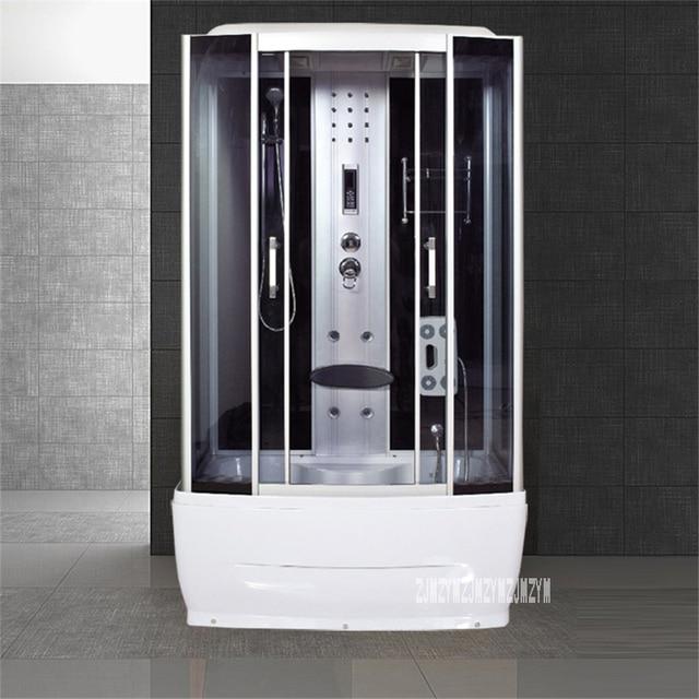 Barato A6 cuarto de baño lujo ducha vapor vidrio templado ...
