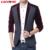 LONMMY hombre M-3XL Mens homens paletó Moda blazer blazer Ocasional para o homem slim fit Veludo Primavera 2016 Nova Preto Azul Vermelho