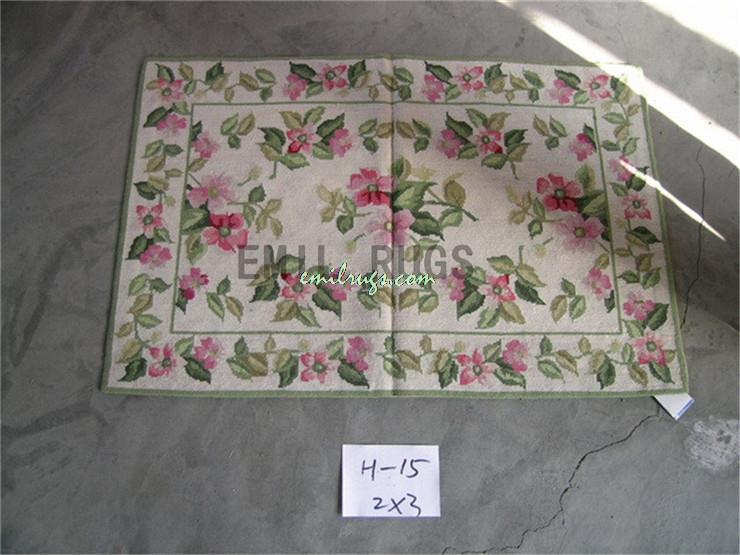 100 Wolle Handgenht Nadel Teppiche Needleopint 61 CM X 91 2 3 Englisch Garten Gc3nee9