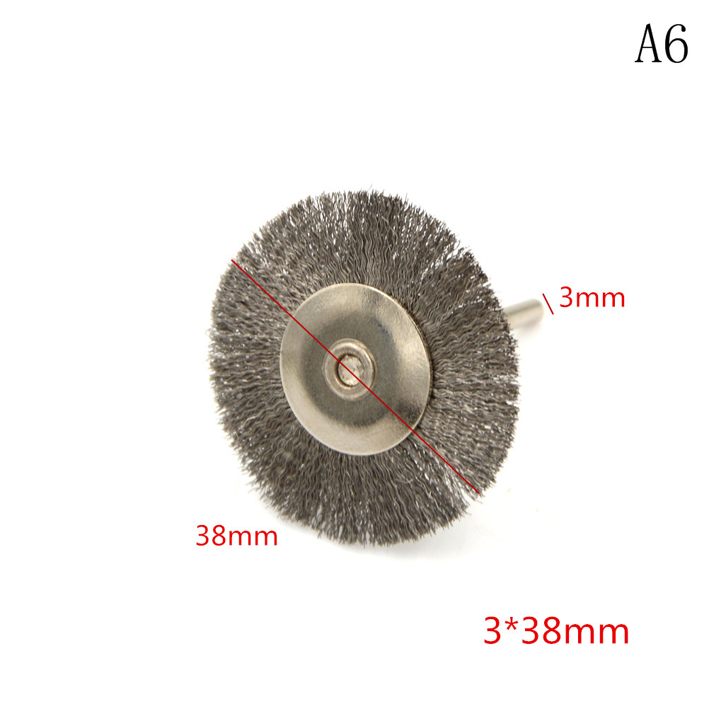5pcs/lot Die Grinder Rotary Electric Tool Stainless Steel Brass Brush Wire Wheel Brushes For Engraver