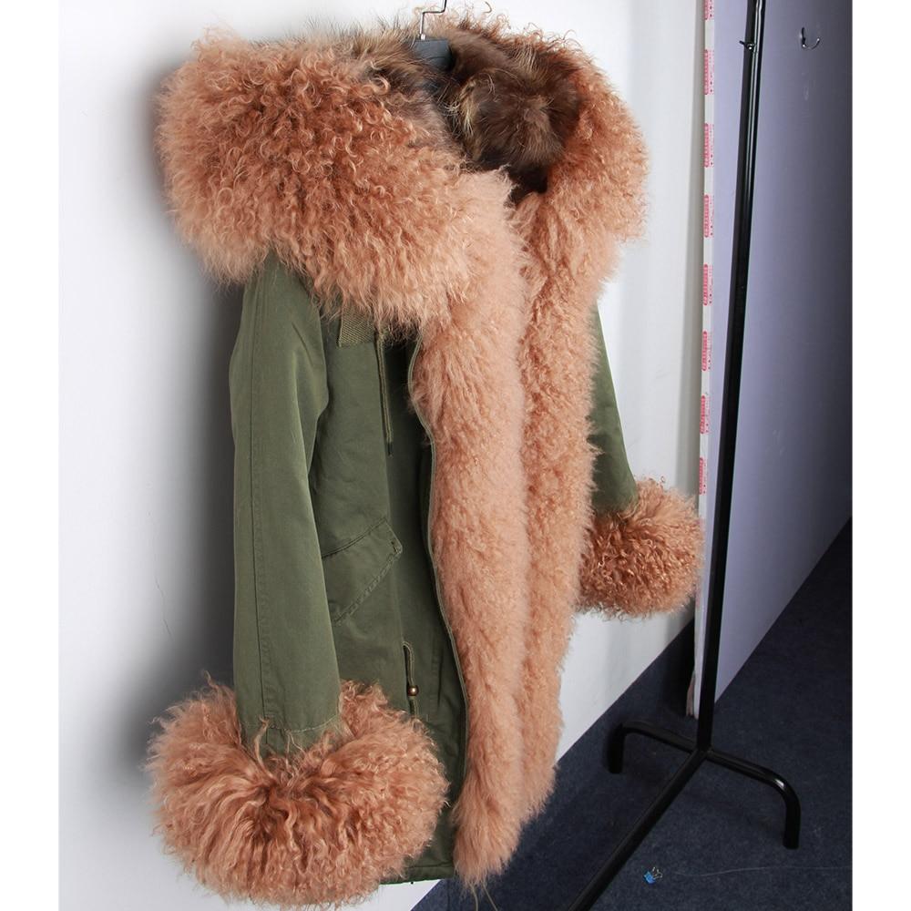 De D'hiver Poignets Parka Femmes Moutons Luxe Col 2 Doublure 2018 Capot Réel Mongolie Fourrure Naturel 3 Longue Manteau En 4 1 Renard Veste wg7q8dpXP