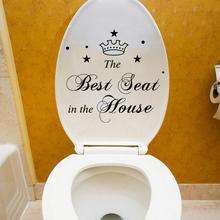 Najlepsze miejsce w domu postacie korona naklejki na toaletę łazienka dekoracja wnętrz naklejki winylowe zabawna wodoodporna naklejka ścienna tanie tanio HonC Jednoczęściowy pakiet None Naklejka ścienna samolot Nowoczesne Wc Naklejki Meble Naklejki Na ścianie WALL Znaków