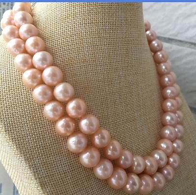 Collier pealr rose doré 12-13mm mer du sud 32 pouces> vente bijoux livraison gratuite