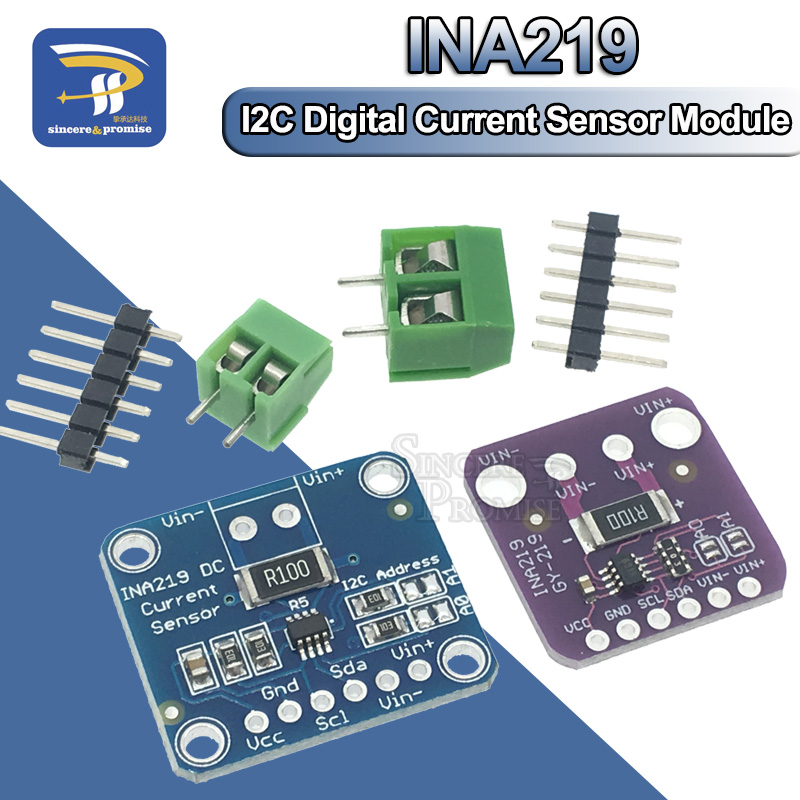 US $1 3 7% OFF|INA219 GY 219 Current Power Supply Sensor Breakout Board  Module Sensor Module I2C interface High Side DC Current For Arduino DIY-in
