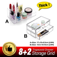 Lipstick Holder Display Stand Clear Acrylic Cosmetic Organizer Makeup Storage Box Case For Lip Balm Lip