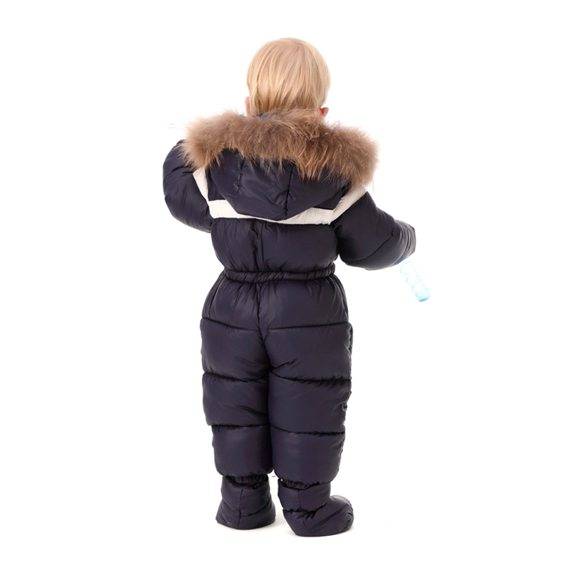 786c1f559 IYEAL Baby Boys Girls Jumpsuits Winter Warm Overalls Toddler Rompers ...