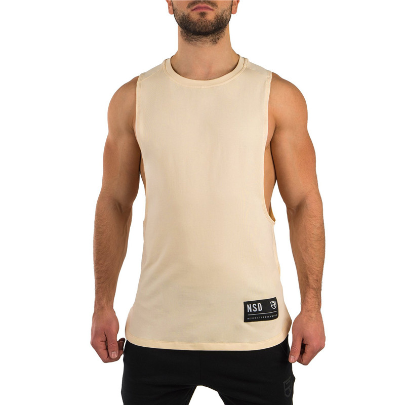 Fashion Men Vest Sleeveless Rise Solid   Tank     Tops   Gyms Fitness Bodybuilding Brand Tee Shirt Homme Workout Breathable Cotton
